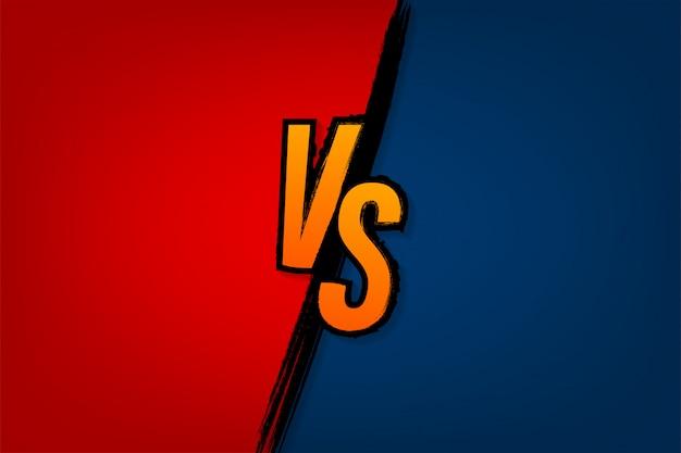 スポーツと戦いの競争のロゴ対文字対戦い対試合、ゲームコンセプト Premiumベクター