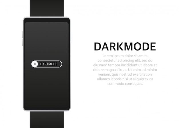 オンオフスイッチ電話画面の暗いモードスイッチャー明るいボタンと暗いボタン Premiumベクター