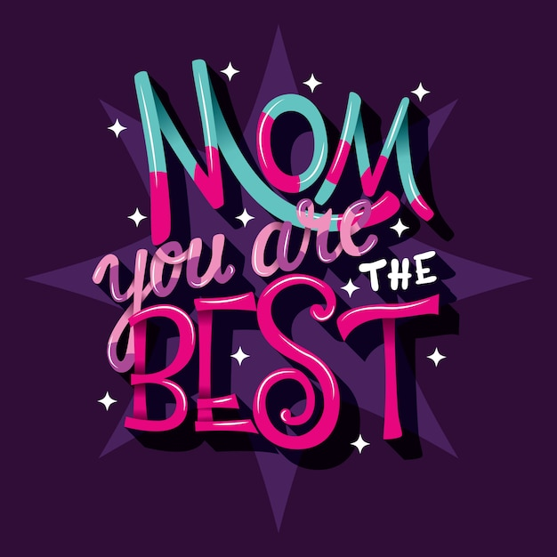 お母さんはあなたが一番です、手文字 Premiumベクター