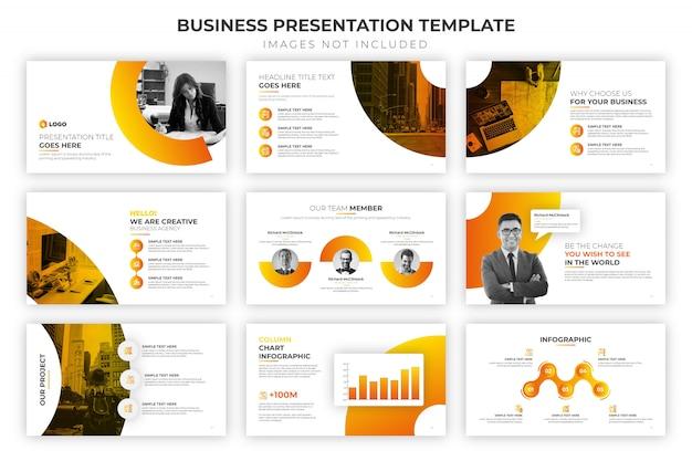 Шаблон бизнес-презентации Premium векторы