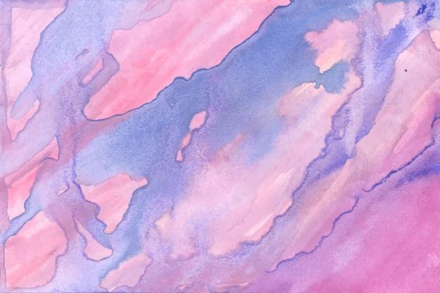 抽象的なブルーピンク水彩テクスチャ背景 Premiumベクター
