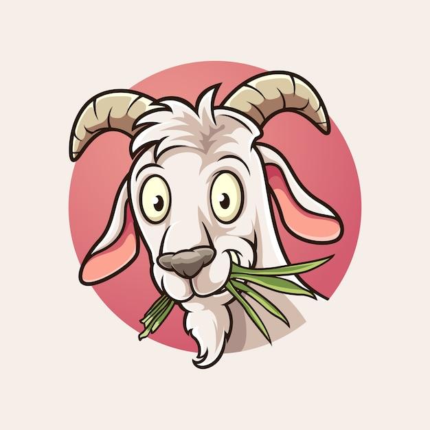 ヤギの手足のロゴ Premiumベクター