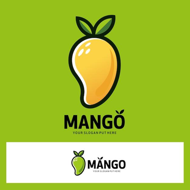 Манго фруктовый логотип Premium векторы