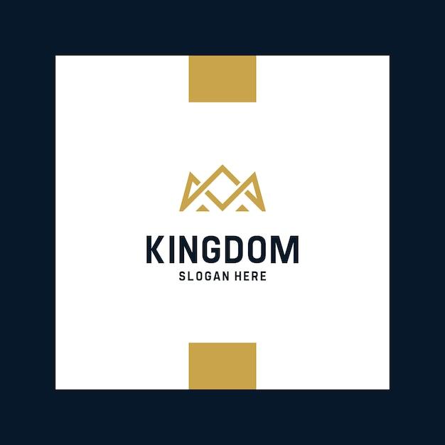 Вдохновляющие королевские и королевские логотипы Premium векторы