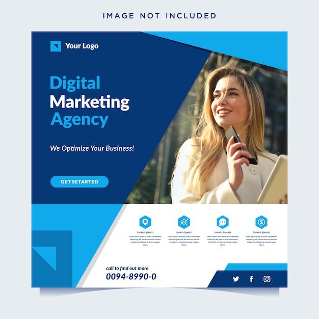 Баннер агентства цифрового маркетинга Premium векторы