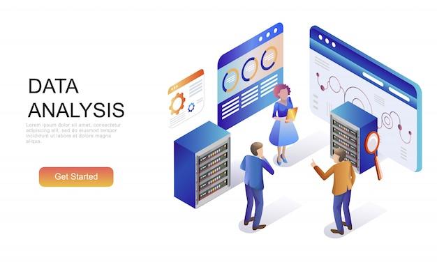 監査、データ分析のフラット等尺性概念 Premiumベクター