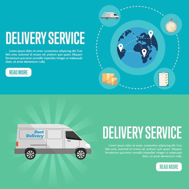 配信サービス水平ウェブサイトバナーテンプレート Premiumベクター