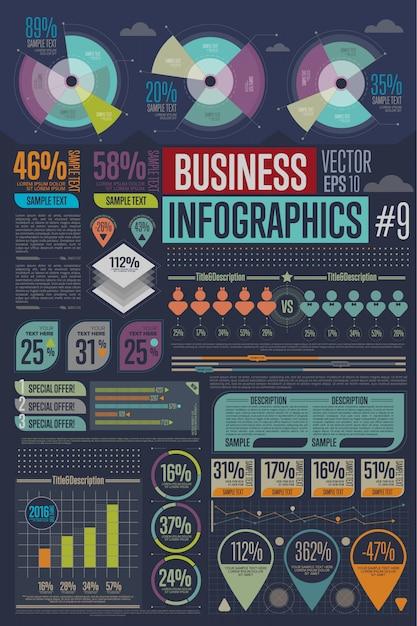 ビジネスインフォグラフィック要素。 Premiumベクター