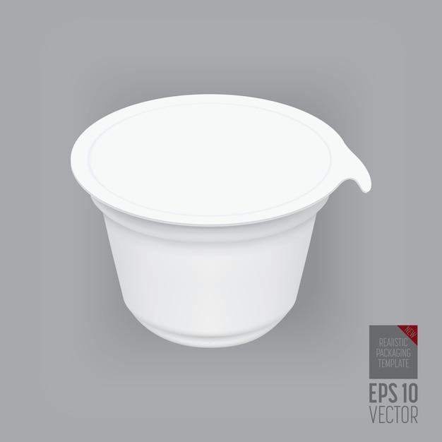 Контейнер для йогурта изолирован Premium векторы