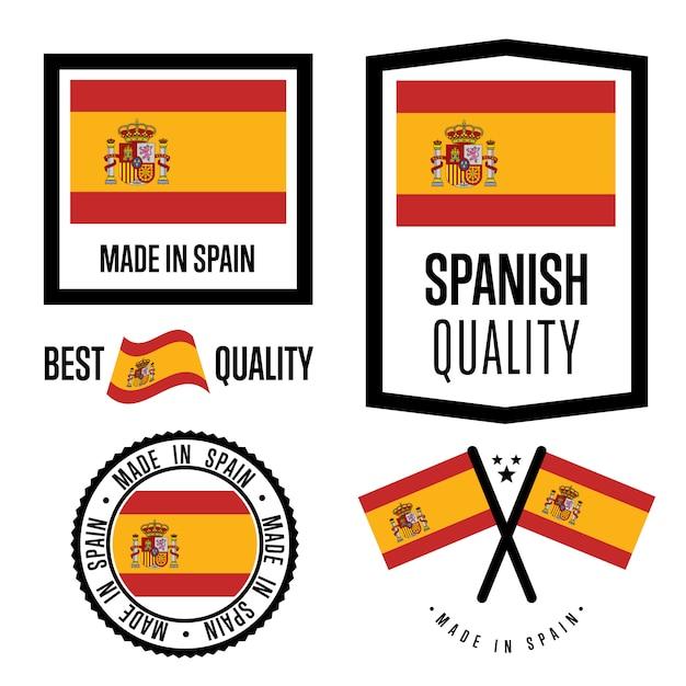 Испанский знак качества Premium векторы