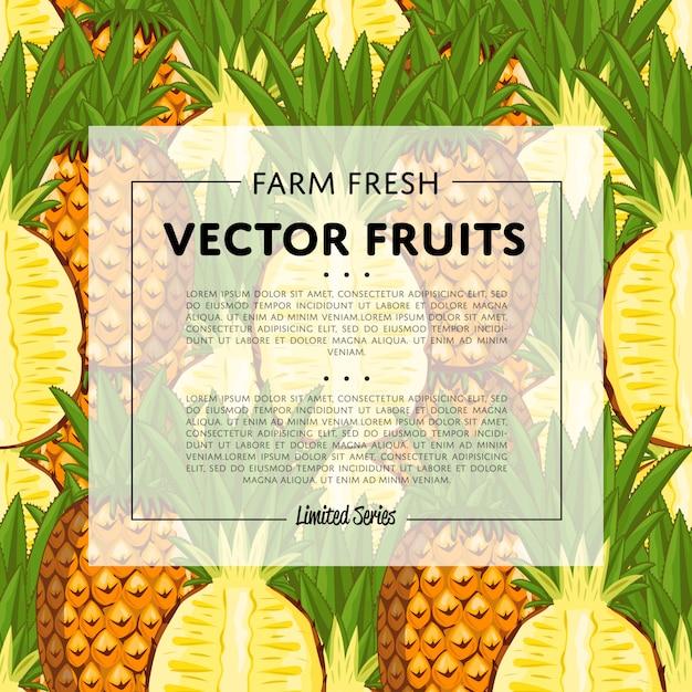 Органическая ферма фруктов квадратный баннер Premium векторы