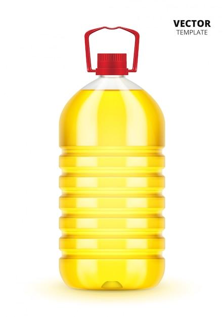 分離された植物油のボトル Premiumベクター