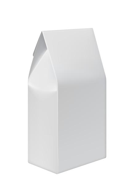 食品用のホワイトペーパーバッグのリサイクル Premiumベクター