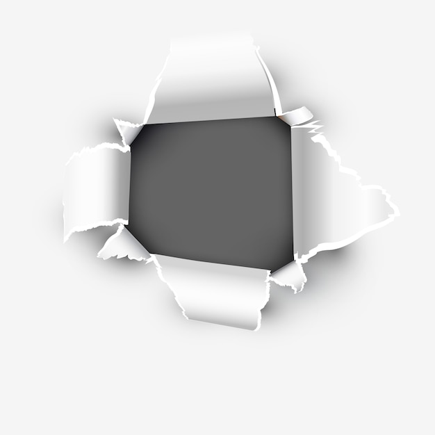 破れた紙のオープニング表示スペース Premiumベクター