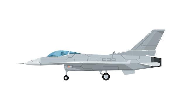 軍用ジェット攻撃機分離アイコン Premiumベクター
