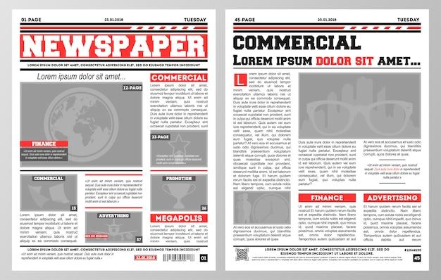 Шаблон газеты Premium векторы