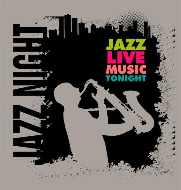 ジャズ音楽 Premiumベクター