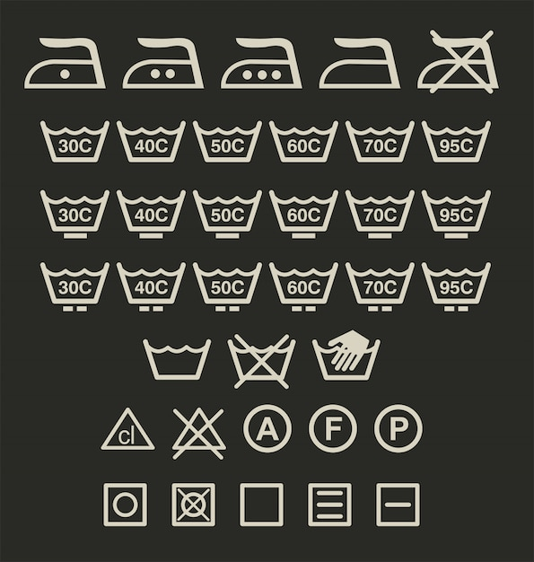 標識を洗う Premiumベクター