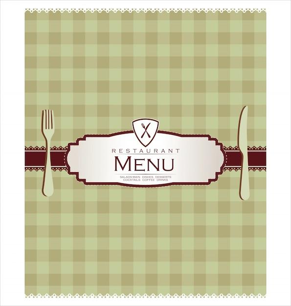 レストランメニューデザイン Premiumベクター