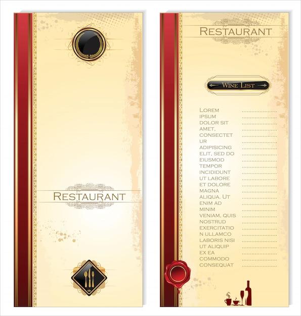 レストランメニュー Premiumベクター