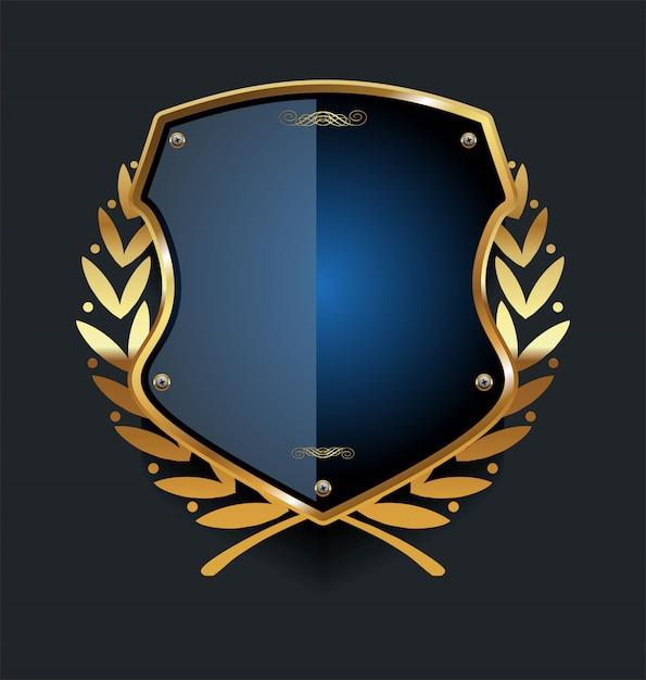 Золотой щит Premium векторы