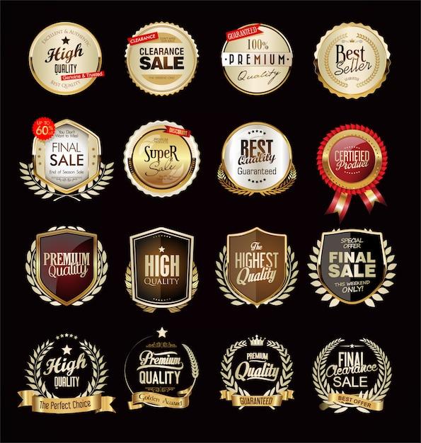 高級ゴールデンのコレクション Premiumベクター