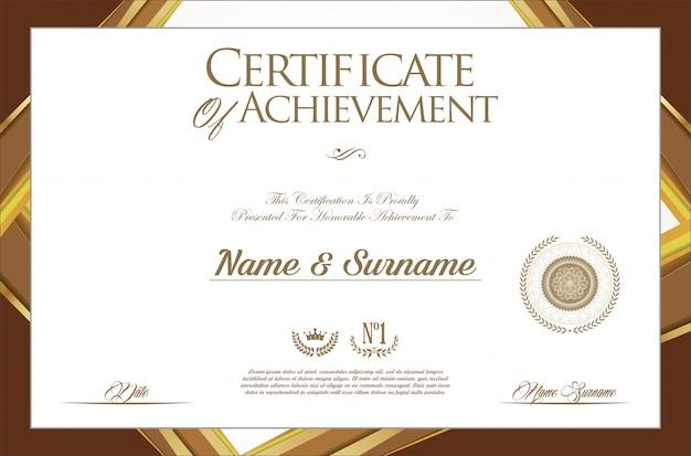 証明書または卒業証書のモダンなデザインテンプレート Premiumベクター