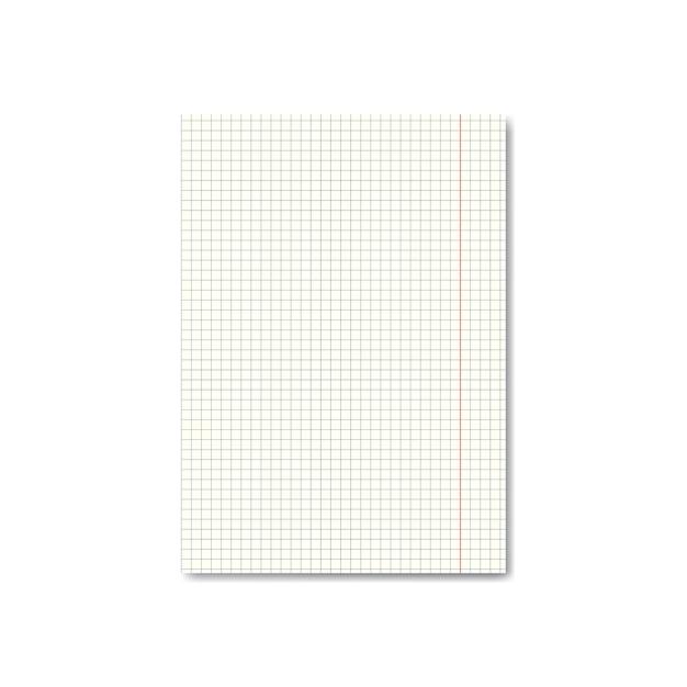 余白のあるリアルな四つ葉またはグラフ用紙 Premiumベクター