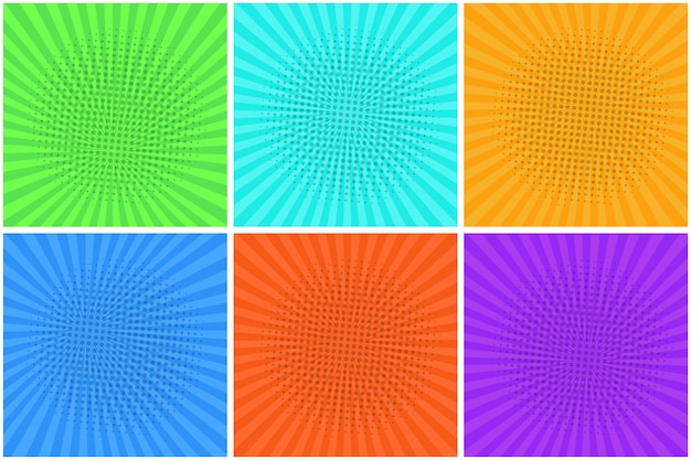 Разноцветные полосатые фоны для речевых пузырей Premium векторы