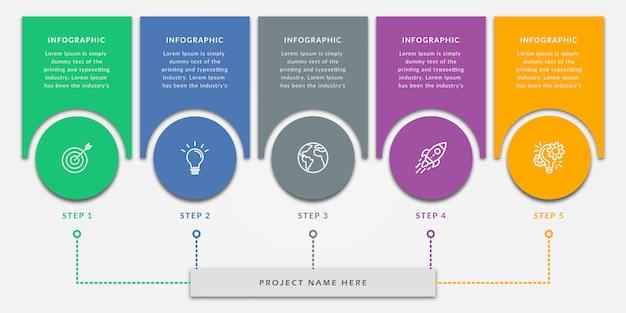 Шаблон элементов дизайна инфографики Premium векторы