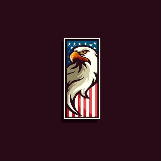 イーグルロゴエンブレムアメリカ Premiumベクター