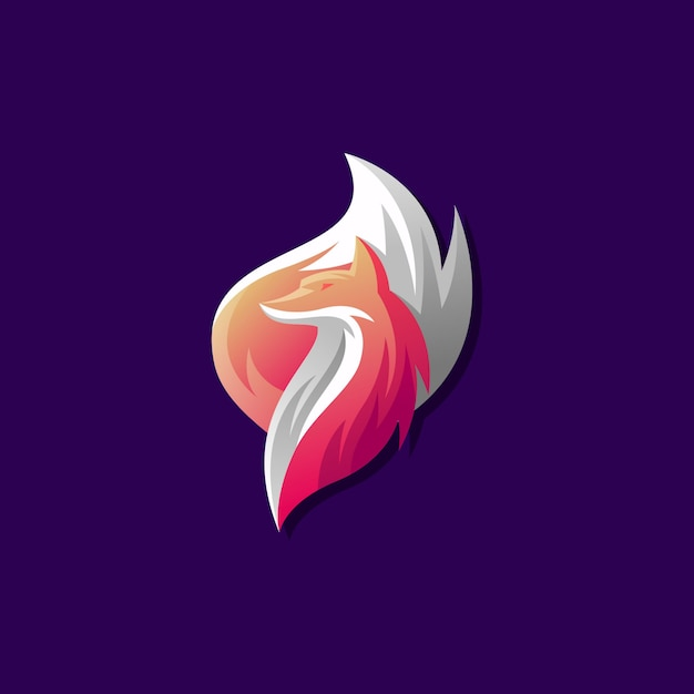 フォックスベクトルのロゴの設計 Premiumベクター