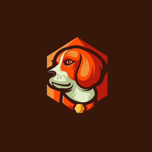 ビーグル犬のベクトルのロゴの設計 Premiumベクター