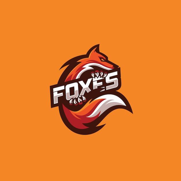 オレンジフォックスロゴ Premiumベクター