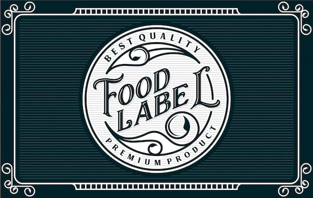 食べ物や飲み物のラベル Premiumベクター
