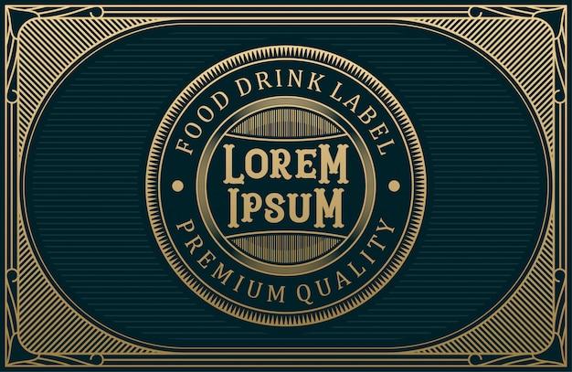 Логотип для продуктов питания и напитков для маркировки бренда Premium векторы