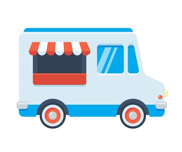 Иллюстрация еды грузовик Premium векторы