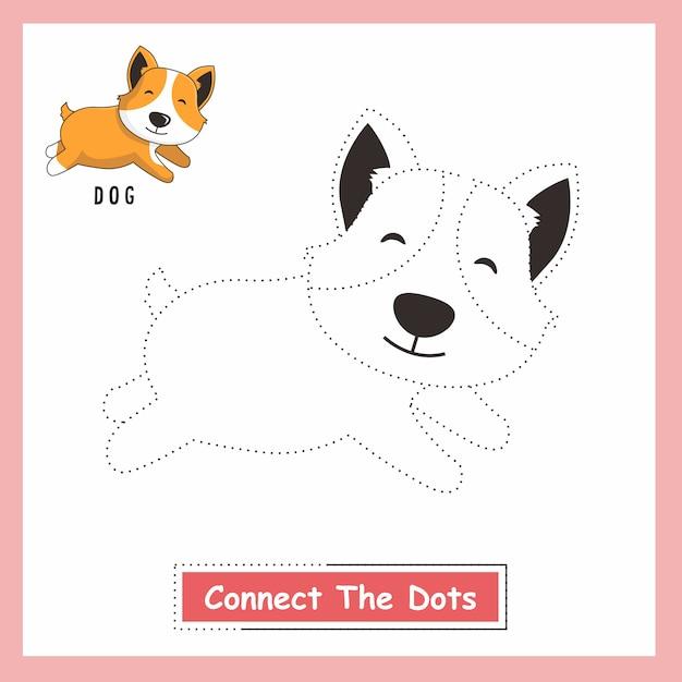 ビーグル犬はドットを接続します Premiumベクター