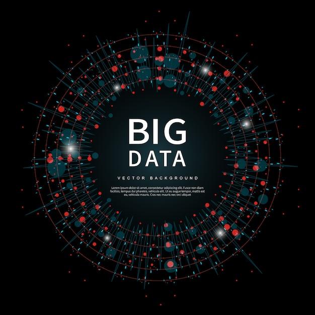 将来のテクノロジーのビッグデータ Premiumベクター