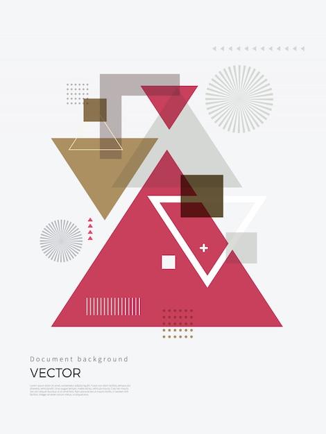 抽象的な幾何学的な背景デザイン Premiumベクター