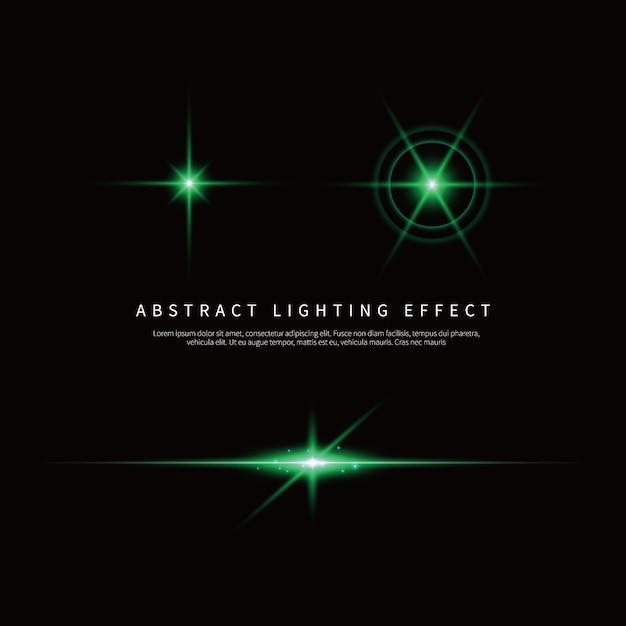 シンプルな照明効果の背景 Premiumベクター