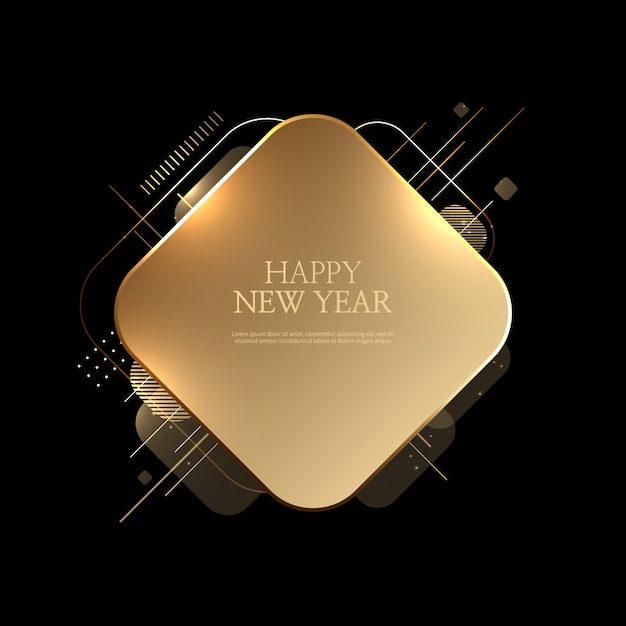 美しい新年あけましておめでとうございます背景 Premiumベクター