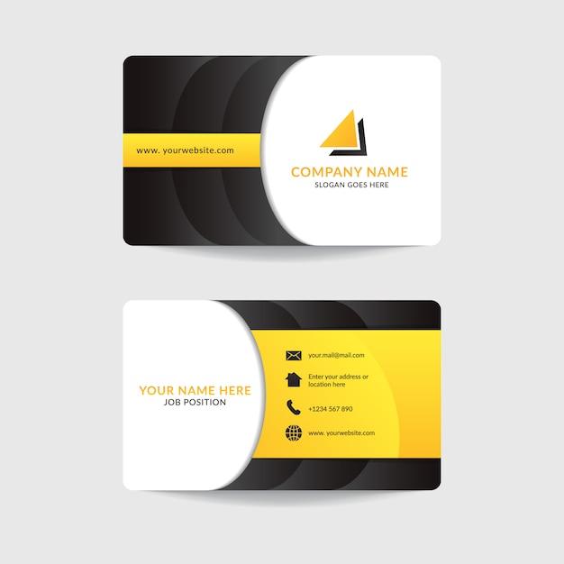 Корпоративный современный дизайн шаблона визитной карточки Premium векторы