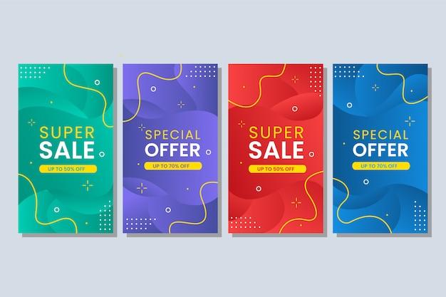Красочный жидкий абстрактный баннер продажи Premium векторы