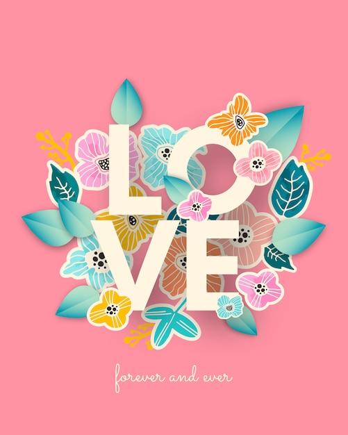 Любовный баннер Premium векторы
