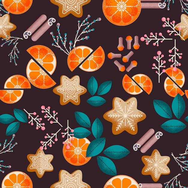 クリスマスのシームレスなパターン Premiumベクター