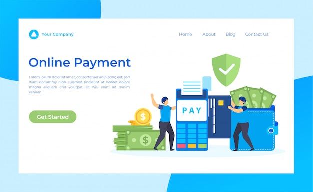 Целевая страница онлайн-платежей Premium векторы