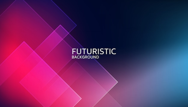 抽象的なブルーの幾何学的形状の未来的な背景 Premiumベクター