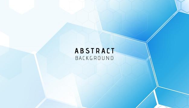 抽象的な青い六角形のモダンな背景 Premiumベクター