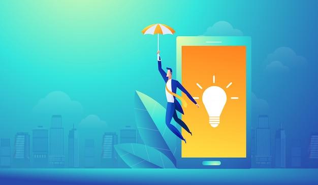 ソーシャルメディアネットワーク技術オンライン研究アプリケーション。 Premiumベクター